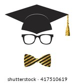 Graduation Avatar Icon. Gold...
