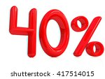 """3d red """"40""""   forty percent on... 