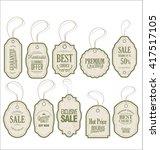 vintage style sale tags design | Shutterstock .eps vector #417517105