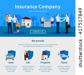 insurance company one page...   Shutterstock .eps vector #417517849