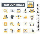 job contract icons  | Shutterstock .eps vector #417518965
