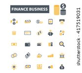 finance business icons  | Shutterstock .eps vector #417519031