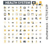 health system icons  | Shutterstock .eps vector #417519139