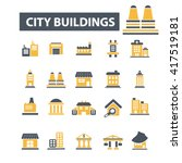 city buildings icons  | Shutterstock .eps vector #417519181
