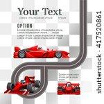 raceway. race cars. | Shutterstock .eps vector #417520861