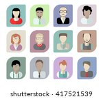 office workers avatars on a... | Shutterstock .eps vector #417521539