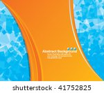 abstract vector orange ... | Shutterstock .eps vector #41752825