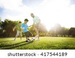 soccer fun sports family... | Shutterstock . vector #417544189