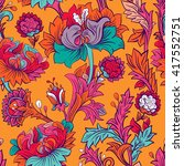 colorful seamless pattern.... | Shutterstock . vector #417552751