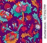 colorful seamless pattern.... | Shutterstock . vector #417552799