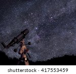 a picture of telescope pointed... | Shutterstock . vector #417553459