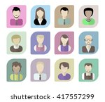 office workers avatars on a... | Shutterstock .eps vector #417557299