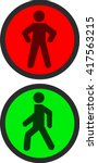 pedestrian traffic lights red... | Shutterstock .eps vector #417563215