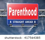 parenthood pregnancy test ... | Shutterstock . vector #417564385