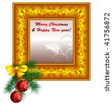 vector christmas vintage design ... | Shutterstock .eps vector #41756872