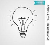 lightbulb  idea sign .hand... | Shutterstock .eps vector #417572029