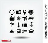travel icons set | Shutterstock .eps vector #417574099