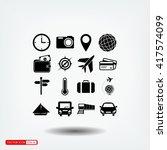 travel icons set | Shutterstock .eps vector #417574099