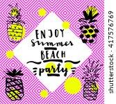 enjoy summer beach party....   Shutterstock .eps vector #417576769