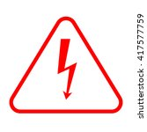 vector red high voltage sign ... | Shutterstock .eps vector #417577759