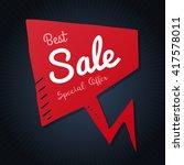 best sale red doodle speech... | Shutterstock .eps vector #417578011