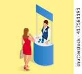 isometric exhibition stand or ... | Shutterstock .eps vector #417581191