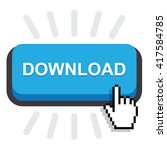 blue rounded download button on ...