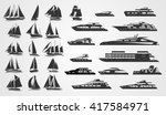 sailing and motor yachts | Shutterstock .eps vector #417584971