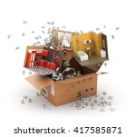 concept of moving. parts of... | Shutterstock . vector #417585871