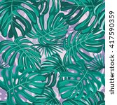 seamless pattern with exotic... | Shutterstock .eps vector #417590359
