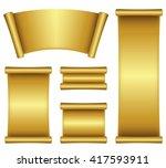 illustration of gold scroll | Shutterstock .eps vector #417593911