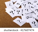 closeup shot of a lot of paper... | Shutterstock . vector #417607474