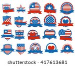 set of various made in the usa... | Shutterstock .eps vector #417613681