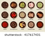 fresh and dried cinnamon ... | Shutterstock .eps vector #417617431