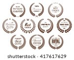 premium quality laurel wreaths... | Shutterstock .eps vector #417617629