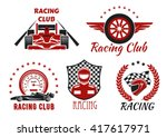 racing club and motorsport... | Shutterstock .eps vector #417617971