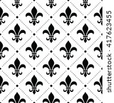 french damask background  ... | Shutterstock .eps vector #417623455