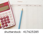 notebook monthly income and... | Shutterstock . vector #417625285