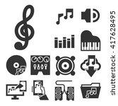 music icon set | Shutterstock .eps vector #417628495