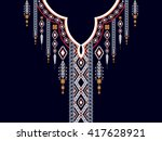 geometric ethnic oriental... | Shutterstock .eps vector #417628921