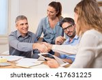 handshake after a job... | Shutterstock . vector #417631225