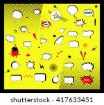 comic vector design elements.... | Shutterstock .eps vector #417633451
