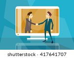businessman shake hand web... | Shutterstock .eps vector #417641707