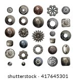 collection of various metal... | Shutterstock . vector #417645301