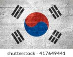 flag of south korea or south... | Shutterstock . vector #417649441