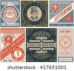 6 old designs set. elements... | Shutterstock .eps vector #417651001