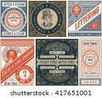6 old designs set. elements...   Shutterstock .eps vector #417651001