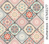 luxury oriental tile seamless... | Shutterstock .eps vector #417652177