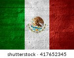flag of mexico or mexican... | Shutterstock . vector #417652345