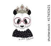 Cute Portrait Of Panda Princes...